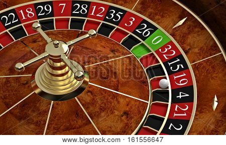 classic casino roulette 3d rendering