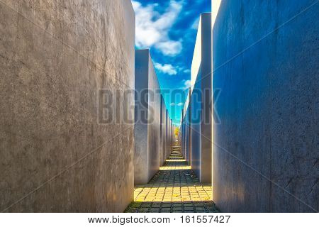 Detail Of Holocaust Memorial Berlin Germany
