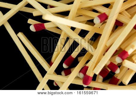 Pile Of Matches, Macro, Isolated