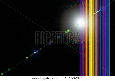 Futuristic And Powerful Stripe Background Design With Lights