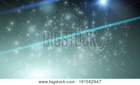 Futuristic Eco Particle Background Design Illustration With Lights