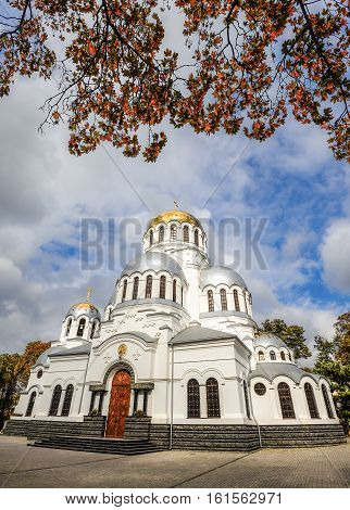 October 20, 2016 - Kamianets-Podilskyi, Ukraine: Old Alexander Nevsky Cathedral, Kamenetz-Podolsk. Ancient beautiful cathedral in Kamianets-Podilskyi, Khmelnitsky region, Ukraine