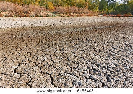 Drying Up Lake Surface