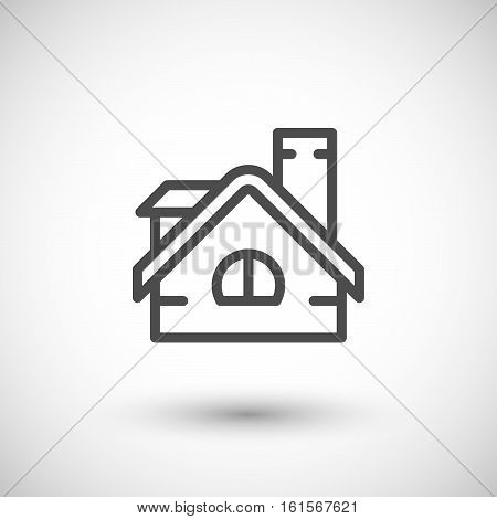 Roof line icon isolated on grey. Vector illustration