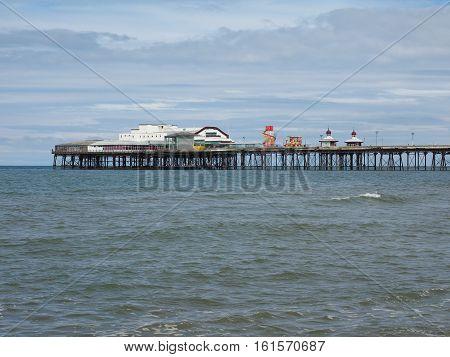 Blackpool Pleasure Beach on the Fylde coast in Blackpool Lancashire UK poster