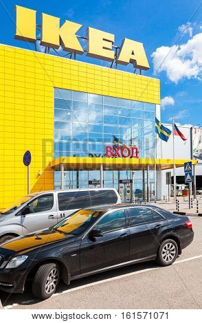ST. PETERSBURG RUSSIA - JULY 28 2016: IKEA Store. IKEA is the world's largest furniture retailer and sells ready to assemble furniture