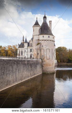Chateau De Chenonceau, Medieval Castle, France