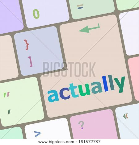 Actually Button On Keyboard With Soft Focus