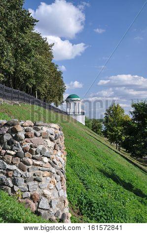 Gazebo on the bank of the Volga River city of Yaroslavl.