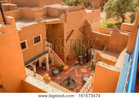 Patio Of The House In Medina Ouarzazate, Morocco