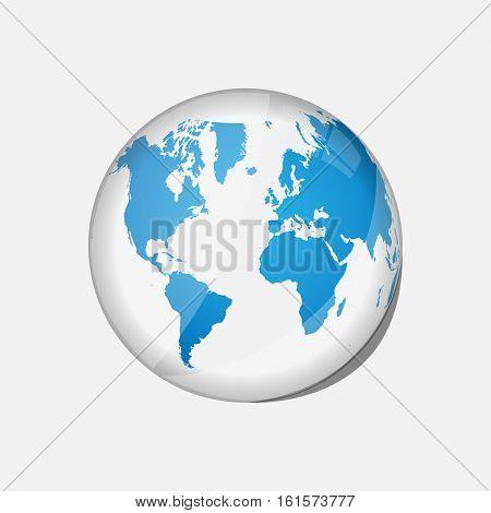 Glass globe illustration
