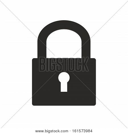 Opened padlock isolated on white background. Vector