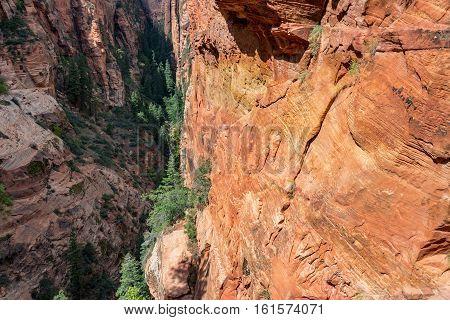 Narrow Canyon View