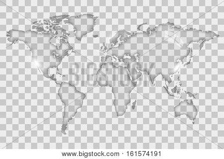 Glass world map illustration