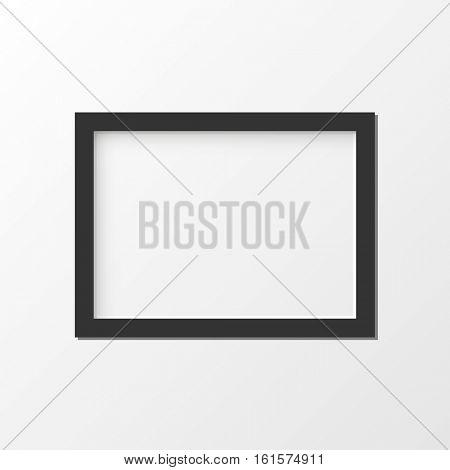 Black picture frame illustration
