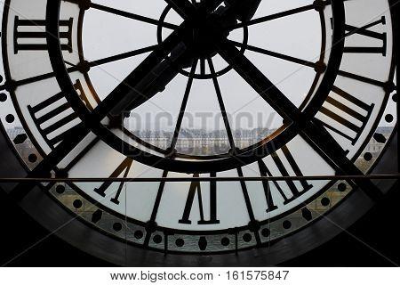 November 13, 2016 - Paris: Famous Clock In The Orsay Museum, Paris, France