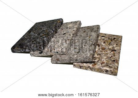 artificial stone for kitchen countertops isolated on white background