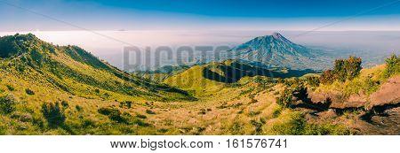 Panorama Of Mount Merbabu