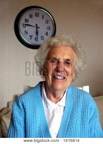 Grandma And Clock