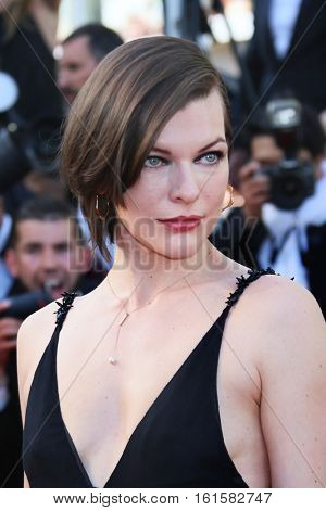 Mila Jovovich attends 'The Last Face' Premiere during the 69th annual Cannes Film Festival at the Palais des Festivals on May 20, 2016 in Cannes, France.