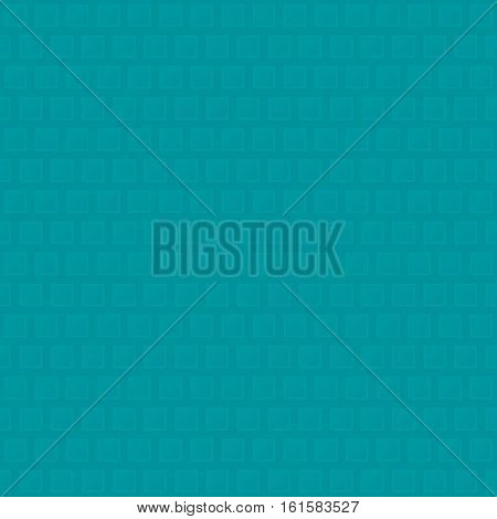 Waffle pattern.Turquoise Neutral Seamless Pattern for Modern Design in Flat Style. Tileable Geometric Vector Background.