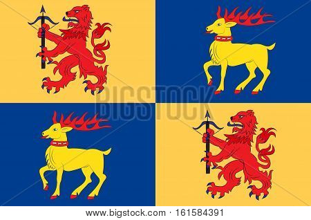 Flag of Kalmar County is a county or län in southern Sweden.