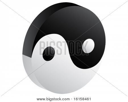 3d ying and yang icon