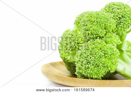 Fresh raw broccoli on a white background. Clipping path