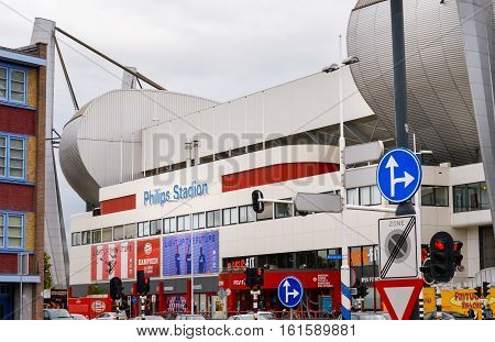 Eindhoven, The Netherlands - 15.09.2015: View At The Philips Stadium, Home Of The Soccer Team Psv Ei