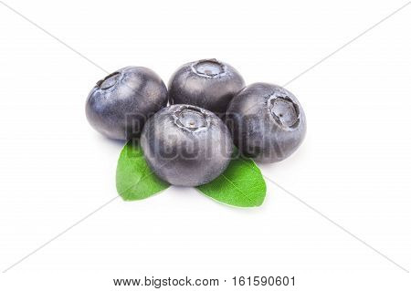 Huckleberry isolated on a white background cutout