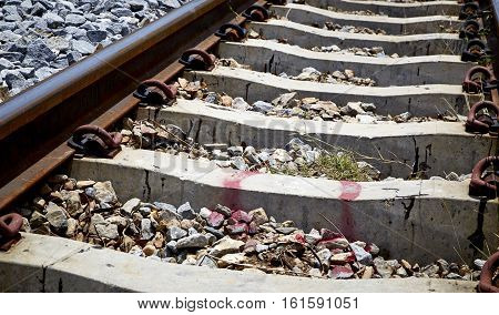 Railway track Can be used as background