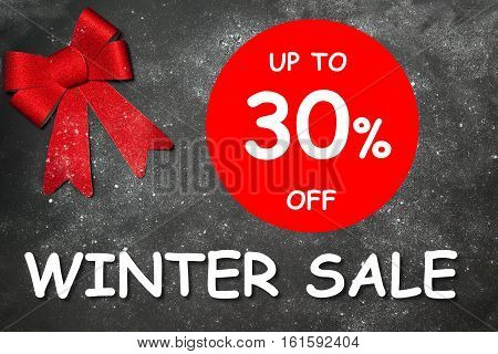 Winter Decoration With Text Winter Sale