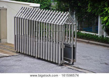 Steel Gate technology Retractable Fence Building Parking area Building Outdoor