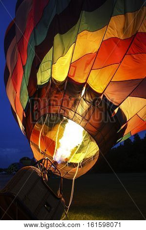 Image of a Hot Air Balloon Being Inflated