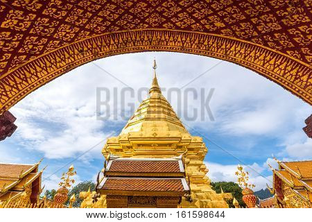 Buddhist Temple of Wat Phrathat Doi Suthep in Chiang Mai Thailand