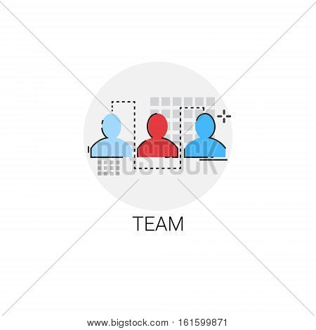 Business Team Colleagues Teamwork Human Resouces Icon Vector Illustration