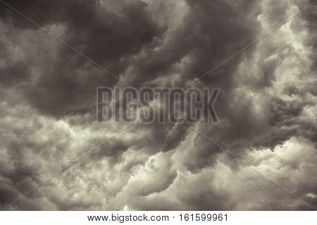 Image Looking Up at Some Stormy Clouds