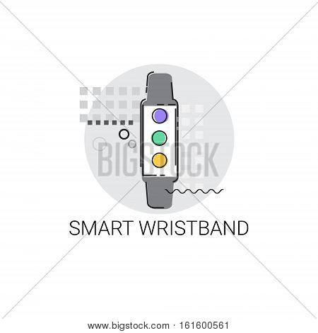 Smart Wristband Trecker Technology Electronic Device Vector Illustration