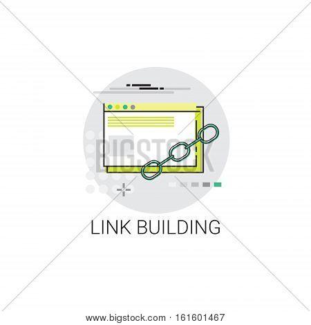 Link Building Seo Keywording Search Icon Vector Illustration