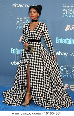 LOS ANGELES - DEC 11:  Janelle Monae at the 22nd Annual Critics' Choice Awards at Barker Hanger on December 11, 2016 in Santa Monica, CA
