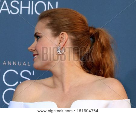LOS ANGELES - DEC 11:  Amy Adams at the 22nd Annual Critics' Choice Awards at Barker Hanger on December 11, 2016 in Santa Monica, CA