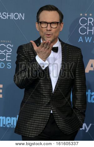 LOS ANGELES - DEC 11:  Christian Slater at the 22nd Annual Critics' Choice Awards at Barker Hanger on December 11, 2016 in Santa Monica, CA