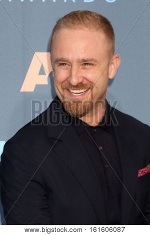 LOS ANGELES - DEC 11:  Ben Foster at the 22nd Annual Critics' Choice Awards at Barker Hanger on December 11, 2016 in Santa Monica, CA