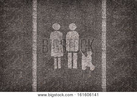 A symbol parking spot intended only for families.