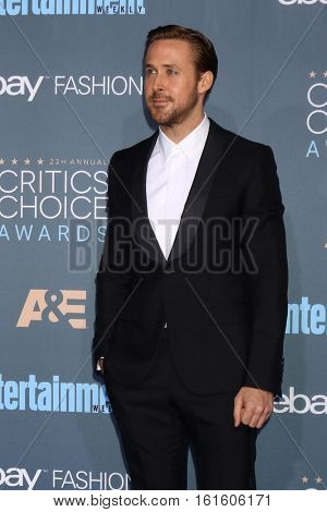 LOS ANGELES - DEC 11:  Ryan Gosling at the 22nd Annual Critics' Choice Awards at Barker Hanger on December 11, 2016 in Santa Monica, CA