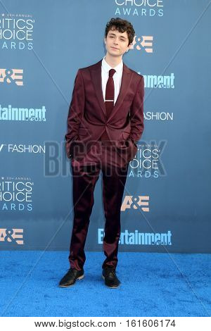 LOS ANGELES - DEC 11:  Lucas Jade Zumann at the 22nd Annual Critics' Choice Awards at Barker Hanger on December 11, 2016 in Santa Monica, CA
