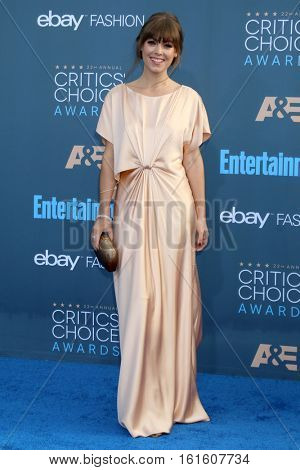 LOS ANGELES - DEC 11:  Jenny Cipoletti at the 22nd Annual Critics' Choice Awards at Barker Hanger on December 11, 2016 in Santa Monica, CA