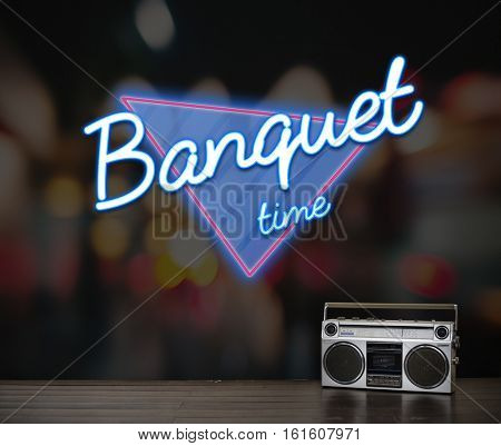Banquet Gala Party Groovy Occasion Festive Concept