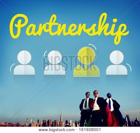 Partnership Corporate Team Leader Font Concept