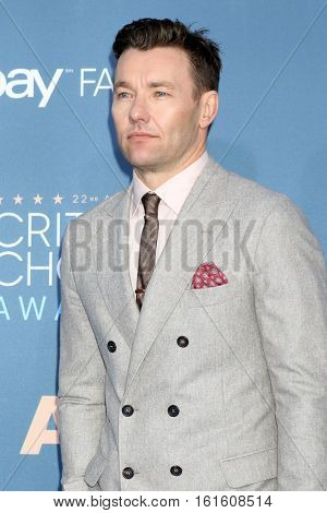 LOS ANGELES - DEC 11:  Joel Edgerton at the 22nd Annual Critics' Choice Awards at Barker Hanger on December 11, 2016 in Santa Monica, CA